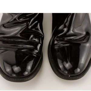 CHANEL Shoes - Authentic CHANEL Logo Patent Leather High Boots